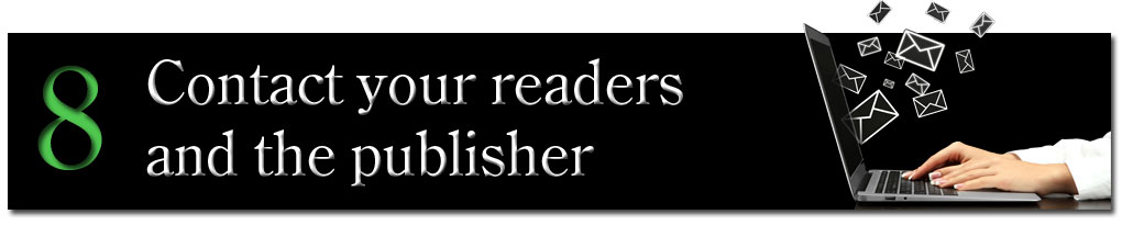 Contact your readers and the publisher